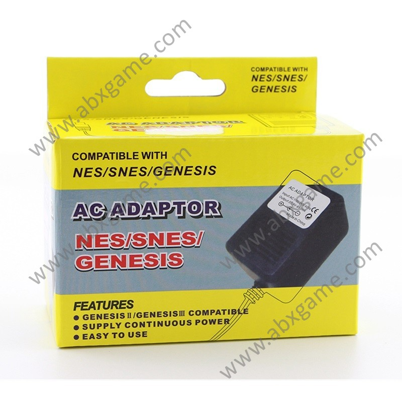 3 in 1 AC Power Adapter Charging Cord for Sega NES SNES GENESIS Console -  US Plug