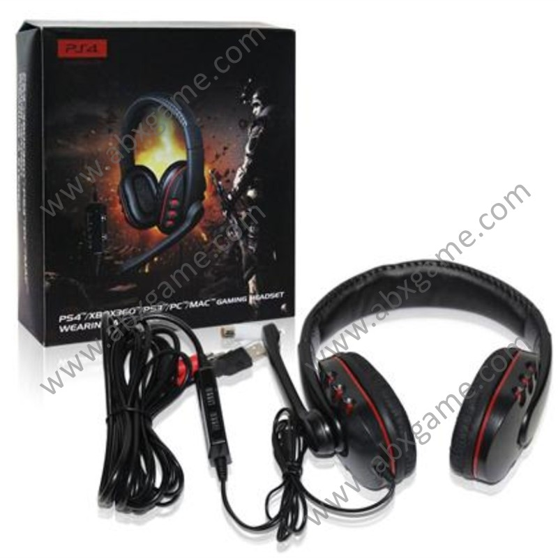 5 in 1 Wired Stereo Headset with Mic for PS4/PS3/XBOX 360/PC