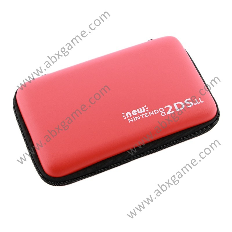 hard pouch bag carry case for new 2ds ll xl red abxgame